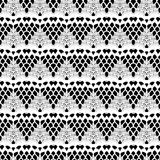 Lace white seamless mesh pattern. Royalty Free Stock Image