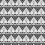 Lace white seamless mesh pattern. Royalty Free Stock Image