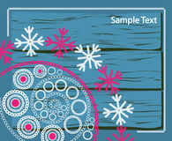 Lace winter pattern Stock Images