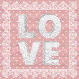 Lace word love Royalty Free Stock Images