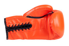 Laced boxing glove Royalty Free Stock Images