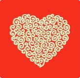 Laced heart Stock Photo