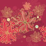Laced seamless sea  border decoration Royalty Free Stock Image