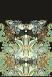 Laced seamless sea  pattern Royalty Free Stock Photography