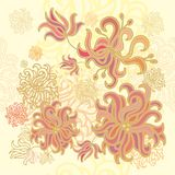 Laced seamless sea  pattern Stock Photos