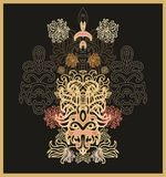 Laced seamless japanese pattern Royalty Free Stock Photography