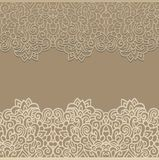 Decorative laced seamless border decor Royalty Free Stock Image