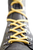 Laced up boot, small depth of sharpness Stock Image