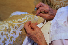 Lacemaking on the Island of Burano, Venice Royalty Free Stock Photography