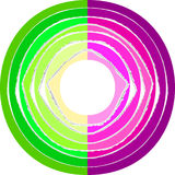 Lacerated paper stripes in circle. Colorful lacerated paper stripes in circle. Element for design Stock Photography