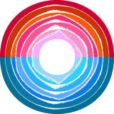 Lacerated paper stripes in circle. Colorful lacerated paper stripes in circle. Element for design Stock Image