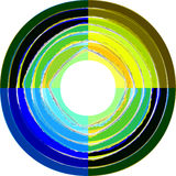 Lacerated paper stripes in circle. Colorful lacerated paper stripes in circle. Element for design Stock Photos