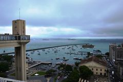 Lacerda ανελκυστήρων και δημόσια αγορά στο Σαλβαδόρ Στοκ Εικόνα