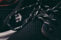 Laces on sneaker