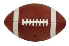 Old Leather American Football Game Ball Isolated Royalty Free Stock Images