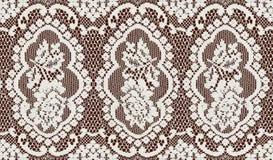 Lacet blanc Photographie stock libre de droits