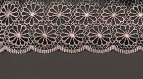 Lacet décoratif avec la configuration photographie stock