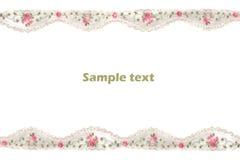 Lacet décoratif avec la configuration Photographie stock libre de droits
