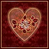 Lacet de coeur Image libre de droits