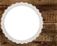 Lacet de cru au-dessus de fond en bois Image libre de droits