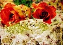 Lacet de roses de cru Photographie stock