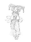 Lacet de whith de poupée illustration de vecteur