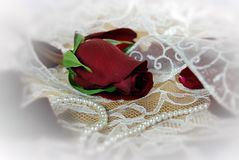 Lacet et perles Image libre de droits