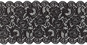 Lacet noir Image stock