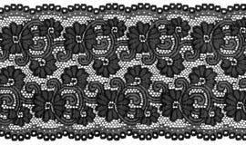 Lacet noir Images libres de droits