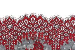 Lacet rouge Photos stock