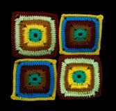 lacet tricoté fabriqué à la main coloré de fond Photo stock