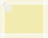 LACETS ET CLAVETTES À L'INVITATION DE MARIAGE illustration stock