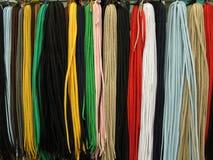 Lacets toutes les couleurs Photographie stock libre de droits