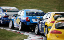lacetti fia chevrolet автомобиля участвуя в гонке wtcc Стоковое фото RF