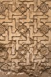 Lacework stucco in the Alhambra of Granada stock photo