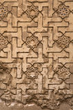 Lacework stucco in the Alhambra of Granada Stock Photos