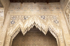 Lacework stucco in the Alhambra of Granada Stock Photo