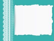 Lacez la trame avec le papier déchiré Images libres de droits