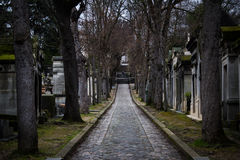 lachaise公墓 免版税库存图片