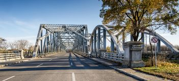 Lachapelle Bridge from Laval Quebec Stock Images