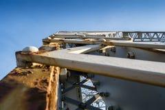 Lachapelle bro från Laval Quebec Details Arkivfoton