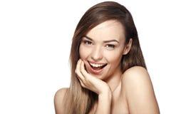 Lachen der jungen Frau stockfotografie