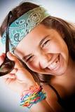 Lachen des jungen Mädchens Stockfotos