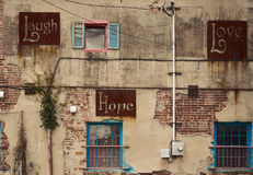 Lachen, Hoffnung, Liebe Stockbild