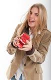 Lachen jugendlich mit geformtem Kasten des Inneren Lizenzfreies Stockbild