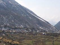 Lachen och Lachung by, Sikkim INDIEN, 14th APRIL 2013: ett s Arkivfoton