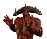 Lachend Demon op wit royalty-vrije stock afbeeldingen