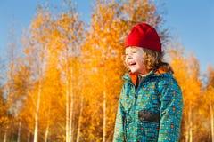 Lachend 3 jaar oude jongens Stock Foto