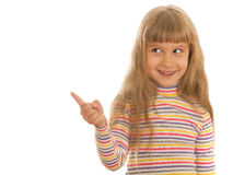Lachend meisje dat opzij kijkt Royalty-vrije Stock Foto's