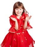 Lachend meisje die handen slaan royalty-vrije stock foto